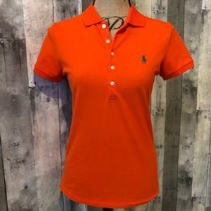 Polo Ralph Lauren Orange Polo Short Sleeve Shirt